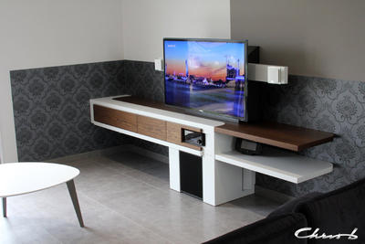 Chris b design meubles multim dias contemporains sur for Meuble tv multimedia